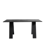 Dining table Angle, Oak Black stained/oil